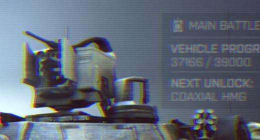 Capture d'écran d'un détail de l'interface dans Battlefield 4, montrant de fausses scanlines et de la séparation de couleurs