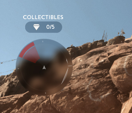 Screenshot from Star Wars: Battlefront's minimap, where the UI background is a heavily blurred version of the scenery